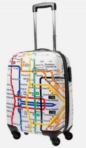 resväska med tunnelbanemotiv