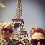 Äntligen vid Eiffeltornet!